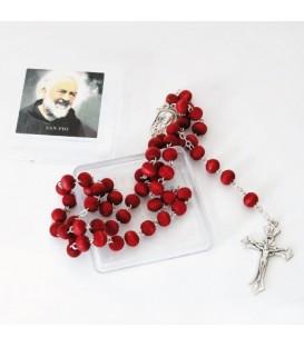 Rosario di Padre Pio profumato in Scatola Quadrata