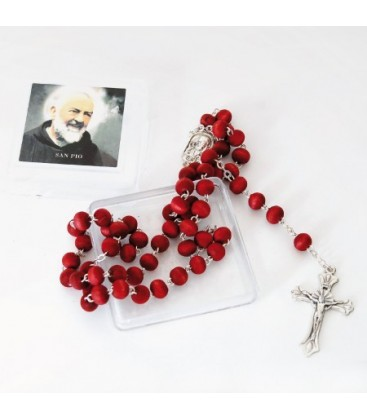 Corona del Rosario  di Padre Pio profumato in Scatola Quadrata