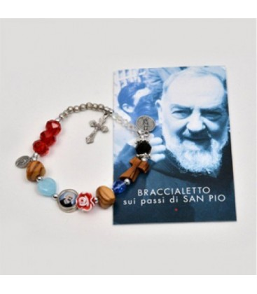 """Pulseira """"sobre os passos de São Pio"""""""