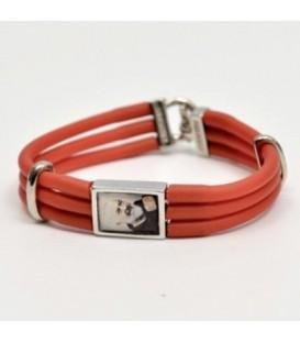 Rubber Bracelet red or blu