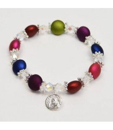 Petal bracelet in semicristallo