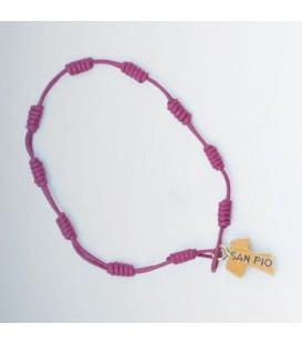 Peregrino pulsera cordón púrpura, amarillo, verde