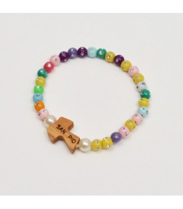 Bracelet strass multicolore