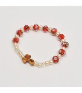 Crystal bracelet with rose