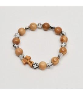 Wooden bracelet and Celtic crosses