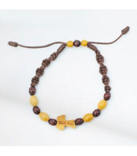 Sliding Wood Woven Bracelet