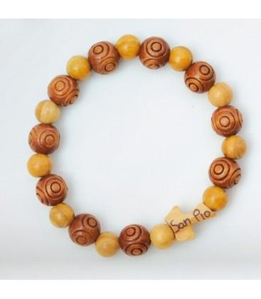 Liso bracelete de madeira da grão e usinadas