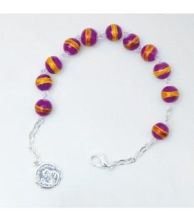 Resin Bracelet Viola, Celeste