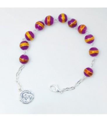 Harz-Armband Viola, Celeste