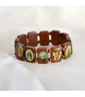 Wooden Bracelet multi saints