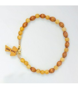 Bracelet de perles ovales en bois