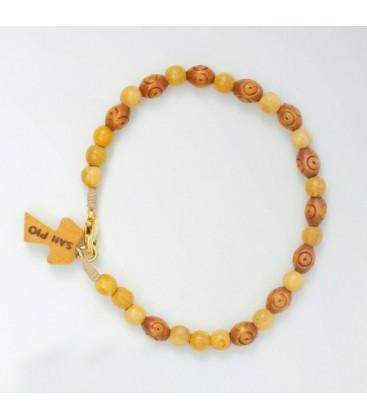 Holz Oval Perlen Armband