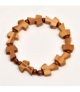 Pulsera de madera con diez Tau