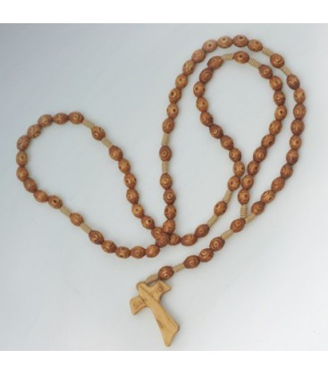 Rosario Padre Pio Legno 7 Poste