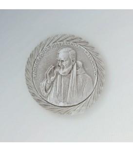 Adesivo Padre Pio con calamita a rilievo