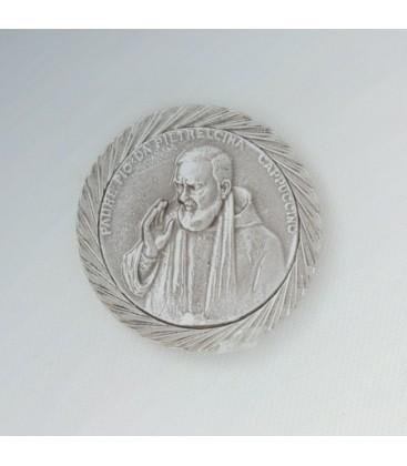 Etiqueta Padre Pio com alívio magnética
