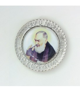 Pater Pio mit Klebstoff Magnet mit schriftlicher