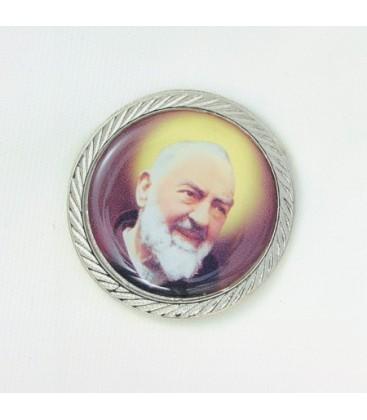 Padre Pio adhésif en aluminium
