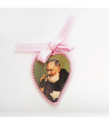 Coeur en soie rose