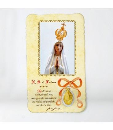 Imagen con medalla de Virgen