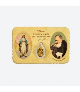Pocket Card Image with Miraculous Madonna