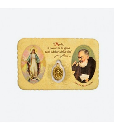 Cajero automático de la imagen con la Virgen Milagrosa