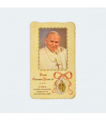 John Paul II image with miraculous medal
