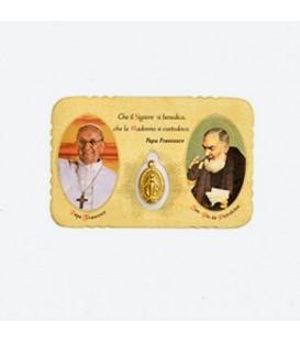 Cajero automático de la imagen con Papa Francesco
