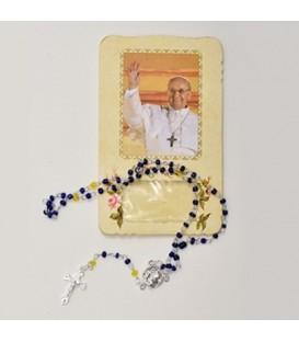 Custodia con Rosario e Papa Francesco