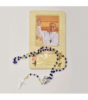 Vivienda con Rosario y Papa Francesco