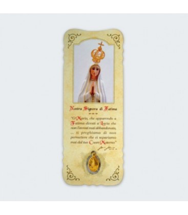 Bookmark with Virgin Medal