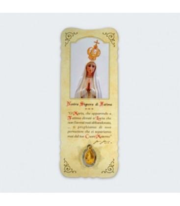 Marcador con medalla de Virgen