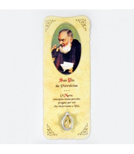 Bookmark with Padre Pio Medal