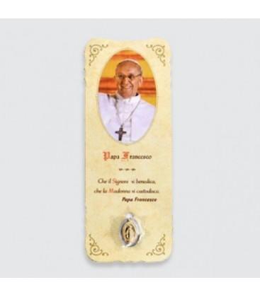 Marcador con Papa Francesco medalla