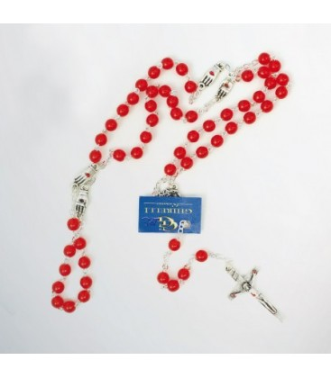 Glass Rosary with Pater Hands various colors