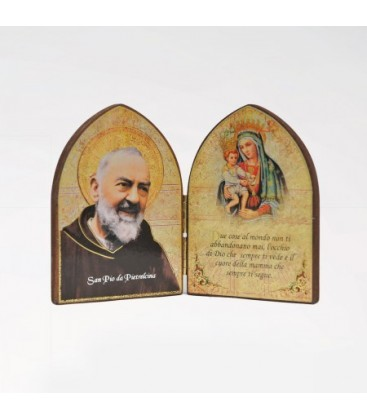 Mdf Medium diptych with Madonna