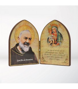 Mdf Large diptych with Madonna