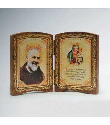 Wood diptych with Madonna