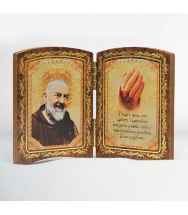 Díptico de madeira grande mão