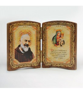 Small Wood diptych with Madonna