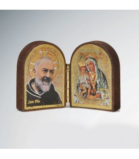 Mdf diptych with Madonna