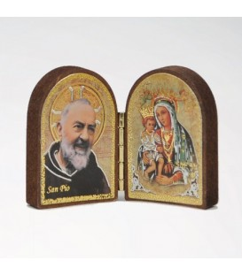 Mini Mdf diptych with Madonna