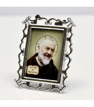 Silver Plated Photo Frame Edizioni Padre Pio Da Pietrelcina