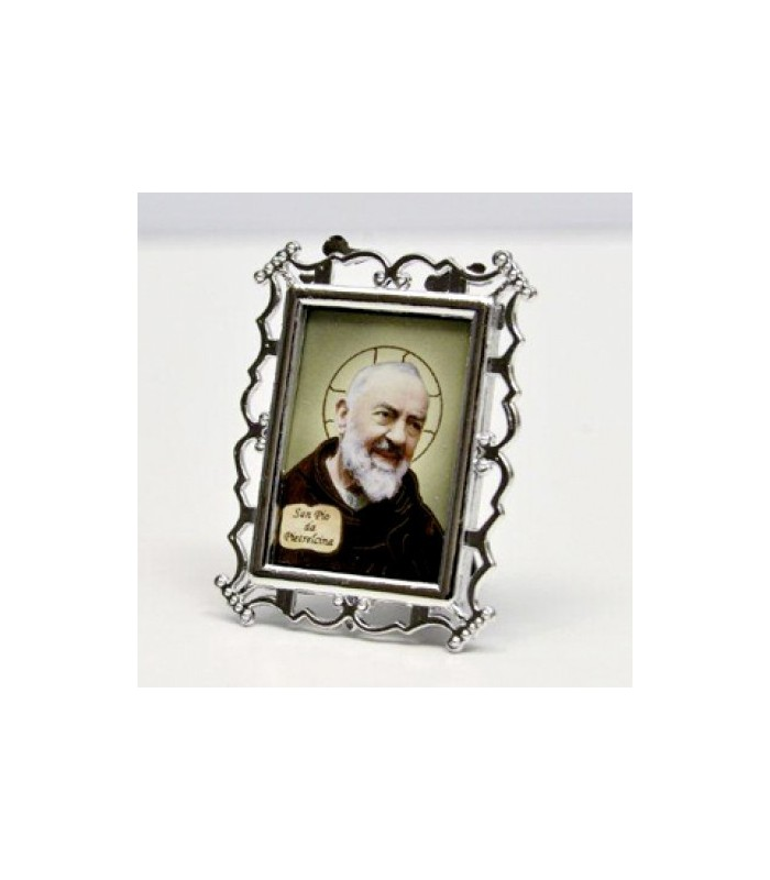 cadre photo plaqu argent edizioni padre pio da pietrelcina. Black Bedroom Furniture Sets. Home Design Ideas