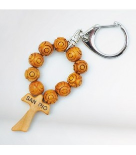 Porte-clefs en bois traitées Grains