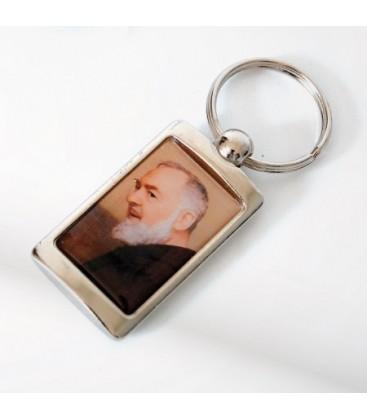Chaveiro de Metal de Padre Pio