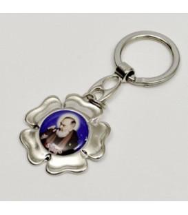 Portachiavi fiore di Padre Pio