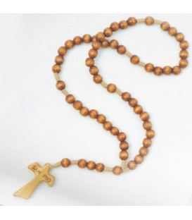 Smooth Grain Wood Rosary