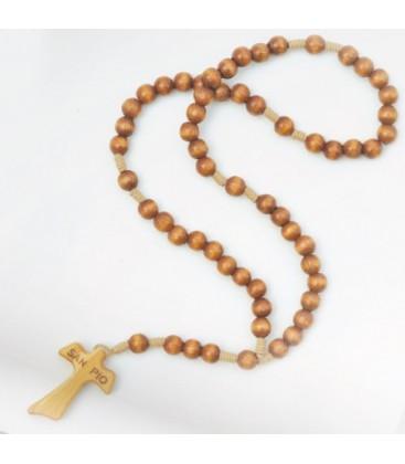 Smooth Grain Wood Rosary
