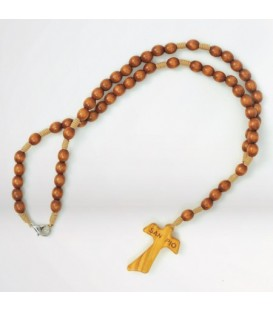 Wood rosary Oval Beads with